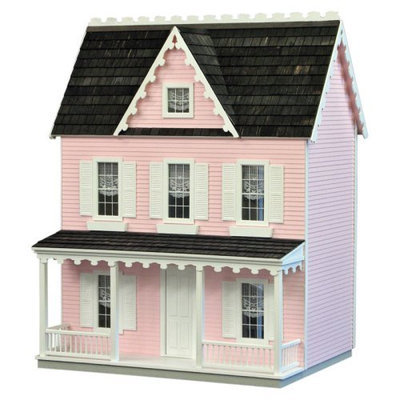 Real Good Toys Finished Vermont Farmhouse Dollhouse - Pink