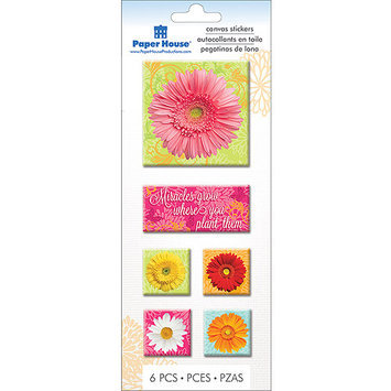 Paper House Productions Paper House STCA03E Paper House Canvas Stickers-Daisies