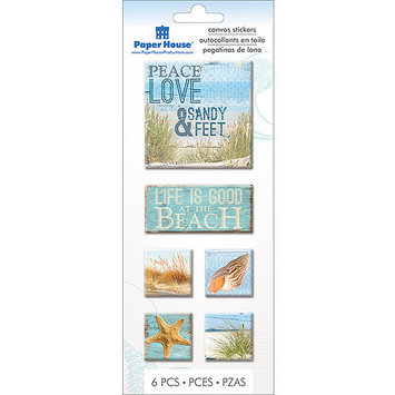 Paper House Productions Paper House STCA08E Paper House Canvas Stickers-Beach