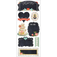 Paper House Productions Paper House STCH01E Paper House Chalkboard Stickers-Vintage Wedding