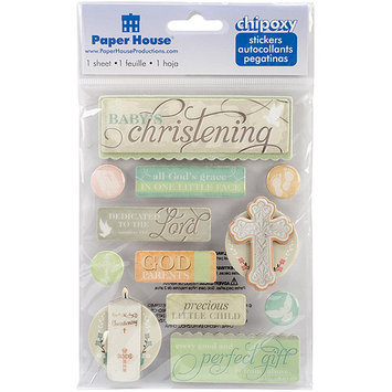 Paper House STCP0005 Chipoxy Sticker-Christening