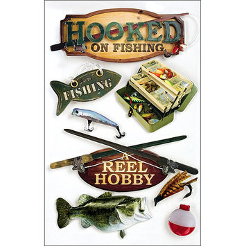 Paper House Productions 3D Stickers, Fishing by Paper House