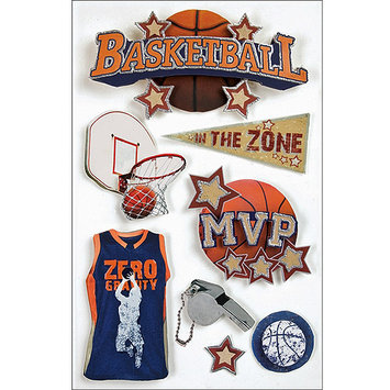 Paper House Productions 3D Stickers, Basketball by Paper House