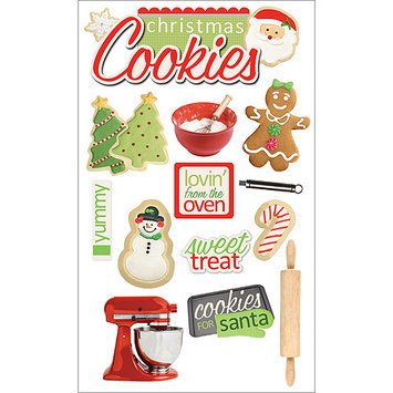 Paper House 3D STickers-Christmas Cookies