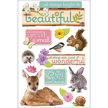 Paper House All Things Beautiful 3D Stickers
