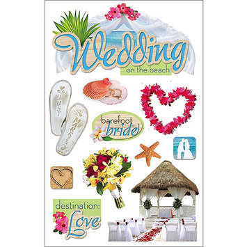 Paper House 3D Stickers, Beach Wedding