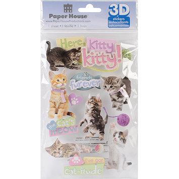 Paper House 3D Stickers-Here Kitty Kitty