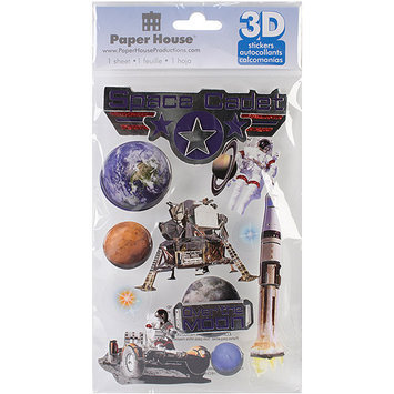 Paper House 3D Stickers, Space Cadet
