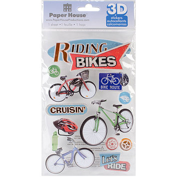 Paper House 3D Stickers, Riding Bikes