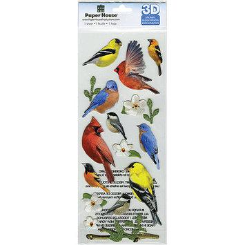 Paper House 3D Stickers-Backyard Birds
