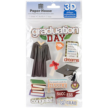Paper House Productions Paper House STDM189E Paper House 3D Stickers-Graduation Day