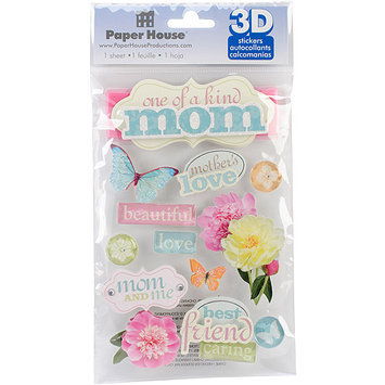 Paper House Productions Paper House STDM192E Paper House 3D Stickers-Mom