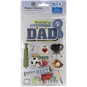 Paper House Productions Paper House STDM193E Paper House 3D Stickers-Dad