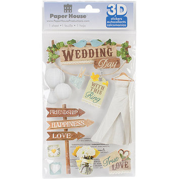 Paper House Productions Paper House STDM199E Paper House 3D Stickers-Wedding