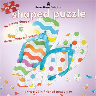 Paper House Productions Paper House Puzzle Shapes 500 Pc. Flip Flops