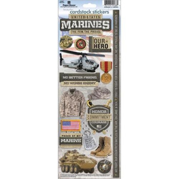 Paper House STCX197E Cardstock Stickers-Marines