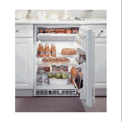 Marvel 61RF-BB-O-L 24 Refrigerator/Freezer with 5.3 cu. ft. Refrigerator Capacity 2 Removable Tempered Glass Shelves Manual Freezer Defrost Left Hinge Door: Black Cabinet Full Overlay Solid