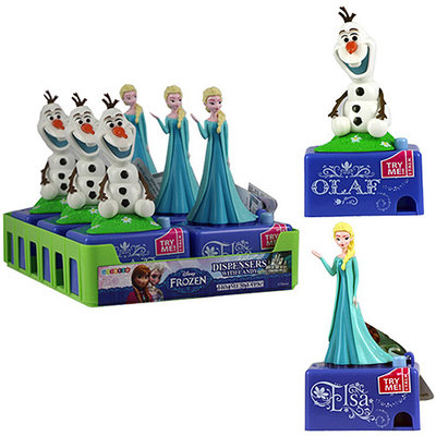 Galerie Disney Frozen Candy Pieces Dispenser with Sound, 0.3 oz, Pack of 6