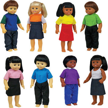 Get Ready 639 Multicultural Dolls#44; Set of 8