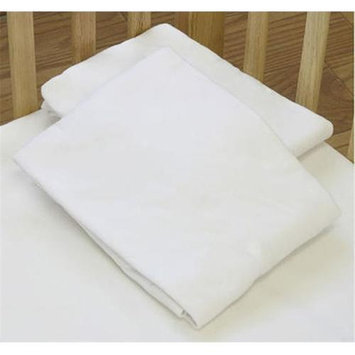 La Baby L.A.BABY 3004-MT Knitted Fitted Sheet For Compact Crib Natural 100% Cotton Fabric- Mint