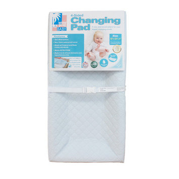 Amwan LA Baby 4 Sided Changing Pad with White Terry Cover