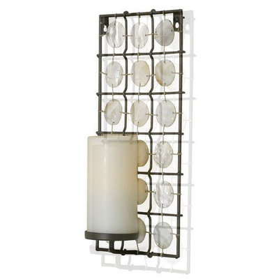 Pacific Accents Equinox Flameless Iron Sconce