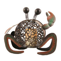Flipo Pacific Accents Beach Comber Crab Flameless Candle Holder