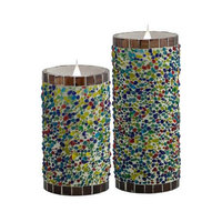 Pacific Accents Solare Flameless Candle Size: 6