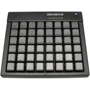 Genovation Controlpad Cp48 USB Hid - Cable Connectivity - USB Interface - 48 Key - Compatible With Computer - Programmable Hot Key[s] - Mechanical - Black (cp48-usbhid 3)