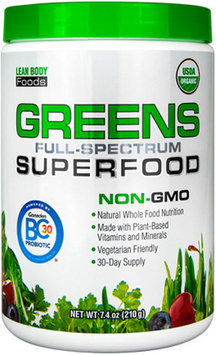 Labrada Nutrition Greens Superfood Unflavored - 7.4 oz (210g)
