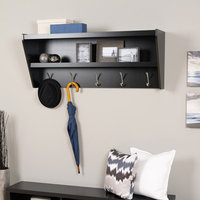 Prepac Floating Entryway Shelf & Coat Rack Finish: Espresso