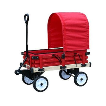 Millside Industries 04769 16 in. x 36 in. Wooden Covered Wagon with Pads
