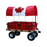 Millside Industries 04879 20 in. x 38 in. Wooden Cdn Covered Wagon with Pads