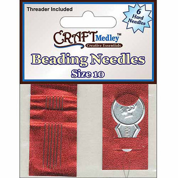 American Classics Corp 491919 No. 10 Beading Needles 6-Pkg With Threader