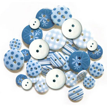 Multicraft Imports Patterned Epoxy Buttons, 10-18mm, 28-Pack, Red 154418