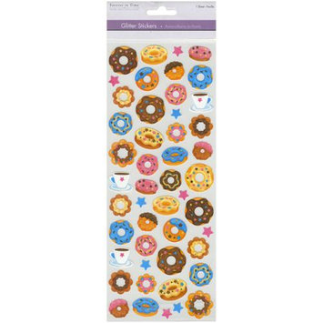 Multicraft Imports SS547-M Multicraft 4.75 in. X12 in. Glitter Stickers-Donuts Anyone