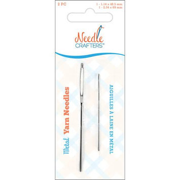 Multicraft Imports NC674 Needlecrafters Metal Yarn Finishing Needles 2/Pkg