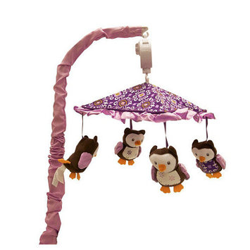 Baby's First Plum Owl Meadow Musical Mobile