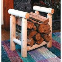 Cedar Looks Firewood Rack Log, 4' - Rustic