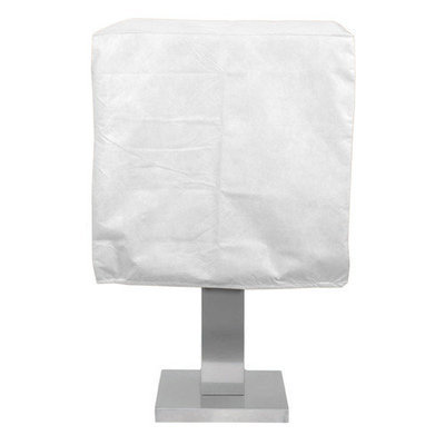 KoverRoos 23051 DuPont Tyvek Pedestal Barbecue Cover White - 19.5 D x 28 W x 19 H in.