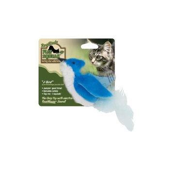 Our Pets Realbirds Play-N-Squeak - J-Bird Blue-White