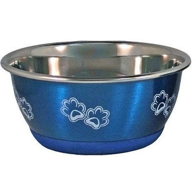 Our Pets Durapet Magenta Stainless Dog Bowl Medium