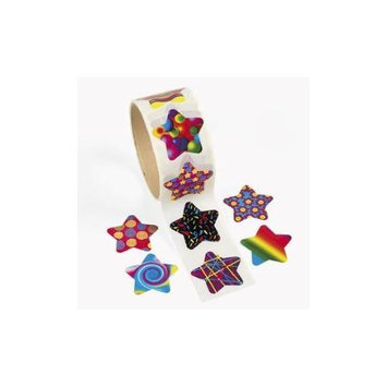 Fun Express Funky Star Roll Stickers (1 roll)