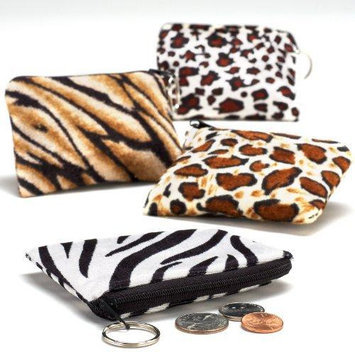 Fun Express Safari Print Coin Purse Keychain