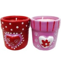 DDI 673296 Valentine Flower Pot Votive Candles
