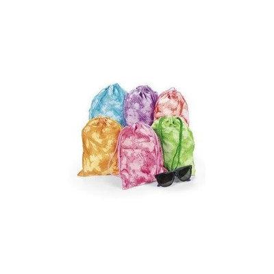 Fun Express Tie-dyed Drawstring Tote Bags (1 Dz)