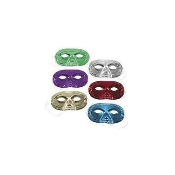 Fun Express Gleaming Half Masks - Costume Accessories & Masquerade Masks
