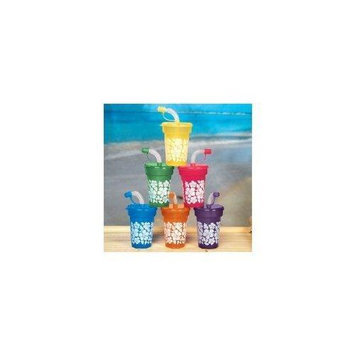 Cool Fun 34-998 Plastic Hibiscus Print Mini Cups