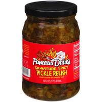 Famous Daves Famous Dave's Signature Spicy Pickle Relish, 16 fl oz
