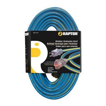 Raptor Tools RAP31402 14/3 Gauge 50 SJTW Heavy Duty Lighted